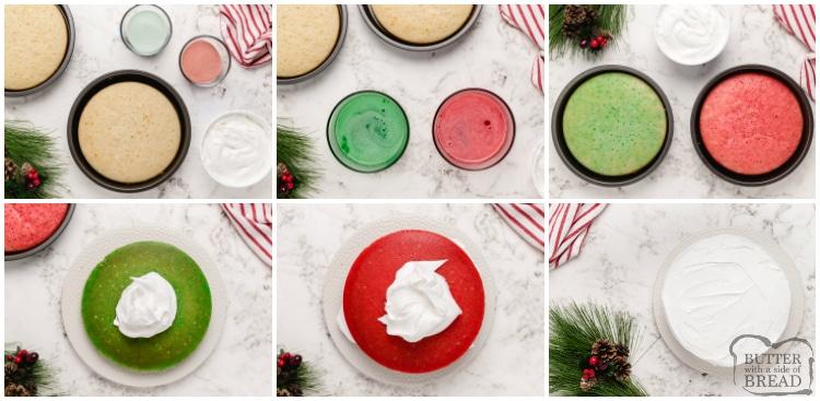 How to make Christmas Jello Poke Cake