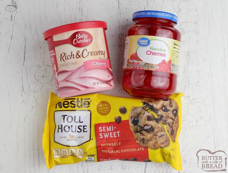 Ingredients in easy fudge recipe