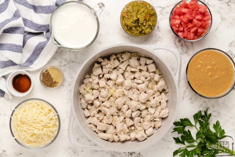 Ingredients in Chicken Corn Chowder