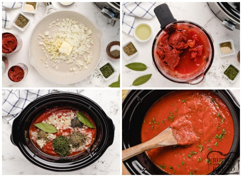 How to make crockpot spaghetti sauce