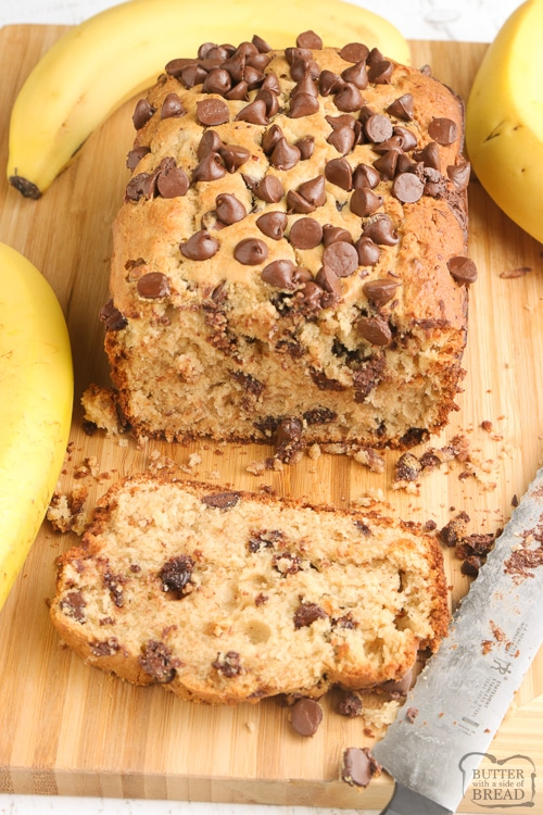 Quick bread recipe with ripe bananas and peanut butter