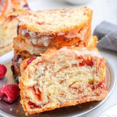 Homemade Raspberry Twist Bread recipe