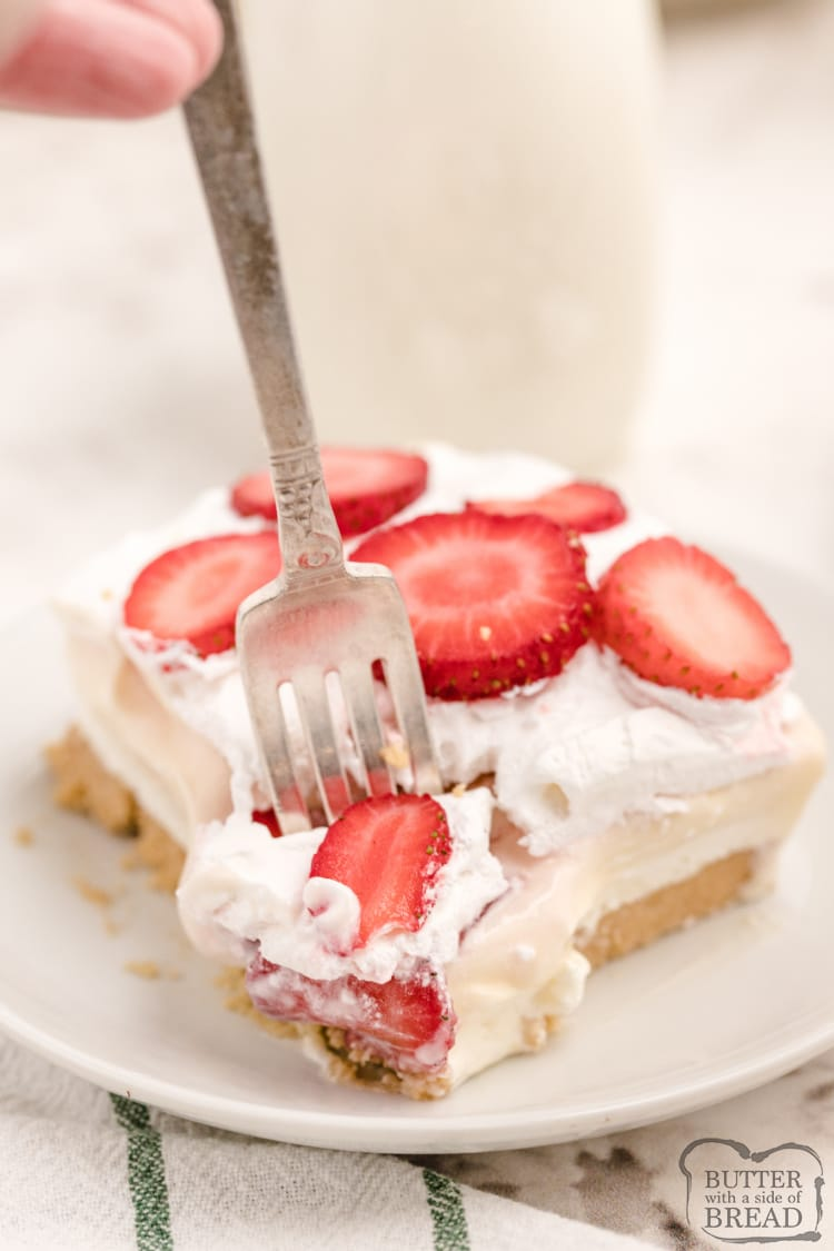 No bake strawberry cheesecake lush recipe