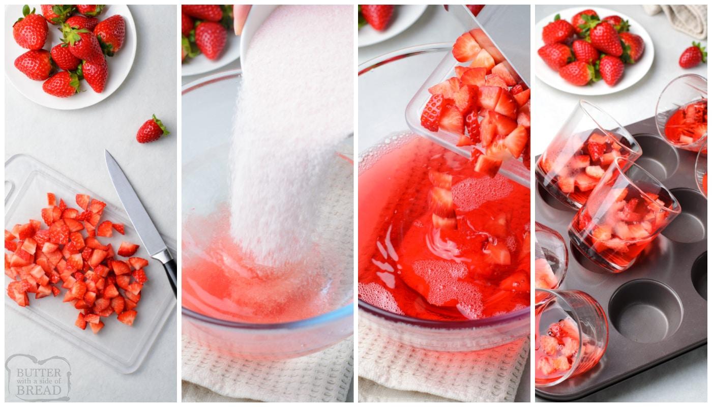how to make Easy Strawberry Jello Parfaits recipe