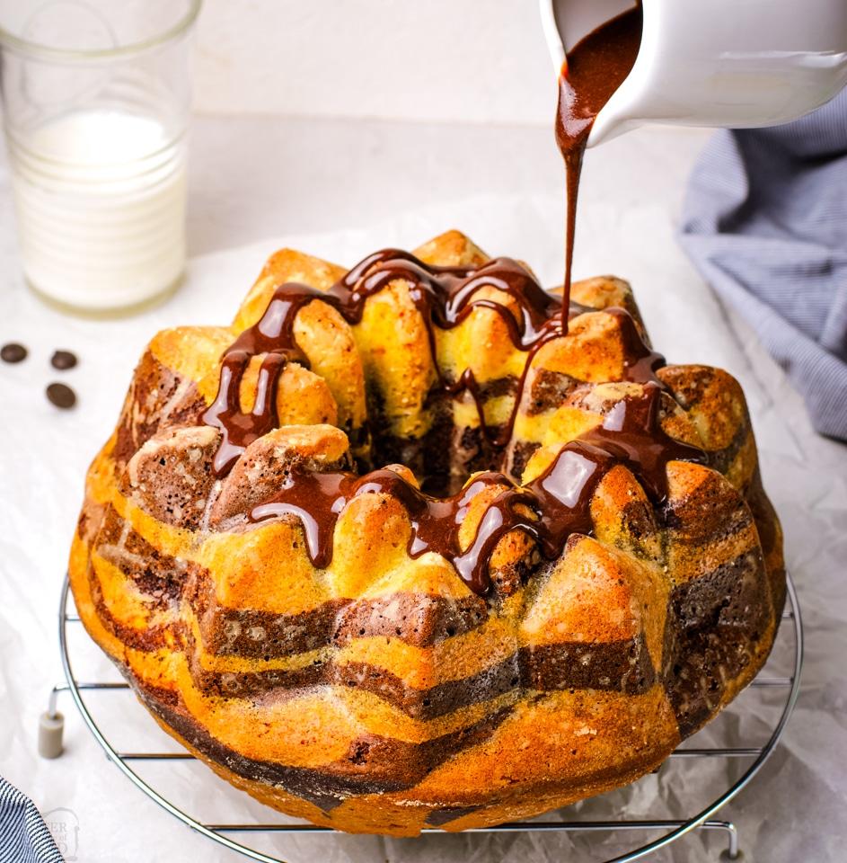 Easy Chocolate Zebra Bundt Cake recipe