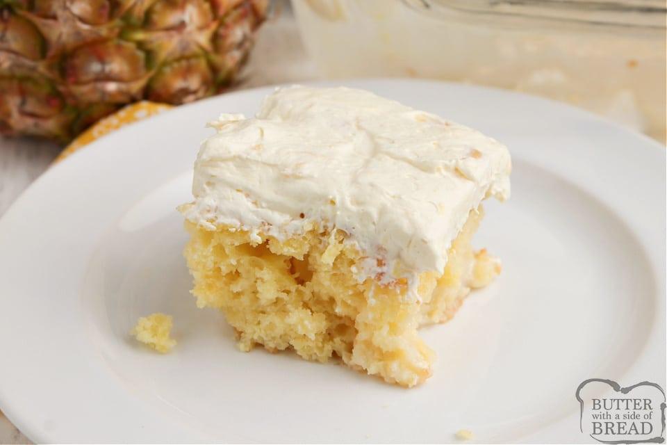 Yellow cake mix with pina colada mix