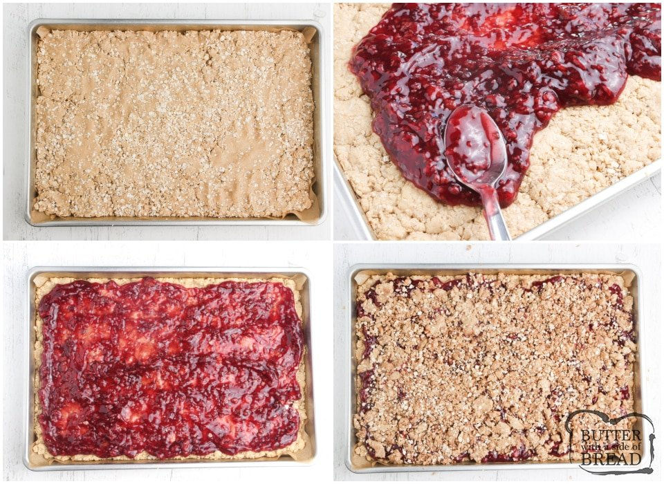 How to make raspberry oatmeal bars