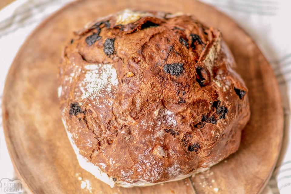 How to make No-Knead Chocolate Artisan Bread recipe