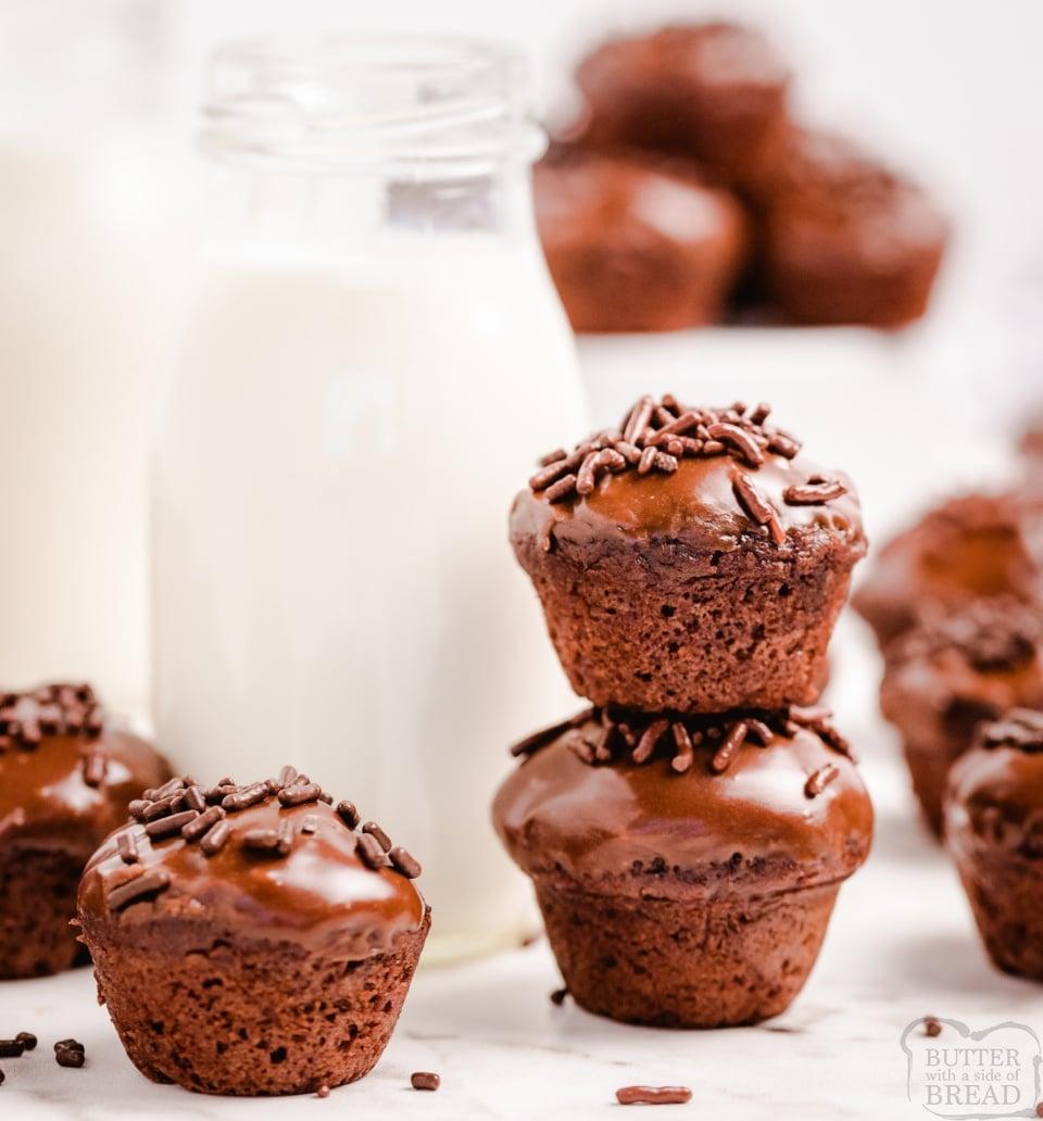 Easy Chocolate Glazed Cake Bites recipe