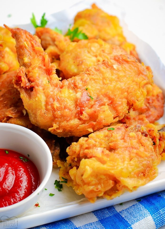 Crispy Fried Chicken recipe made without buttermilk