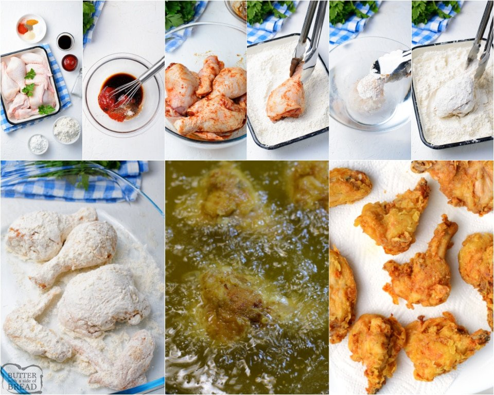 How to make Crispy Fried Chicken recipe made without buttermilk