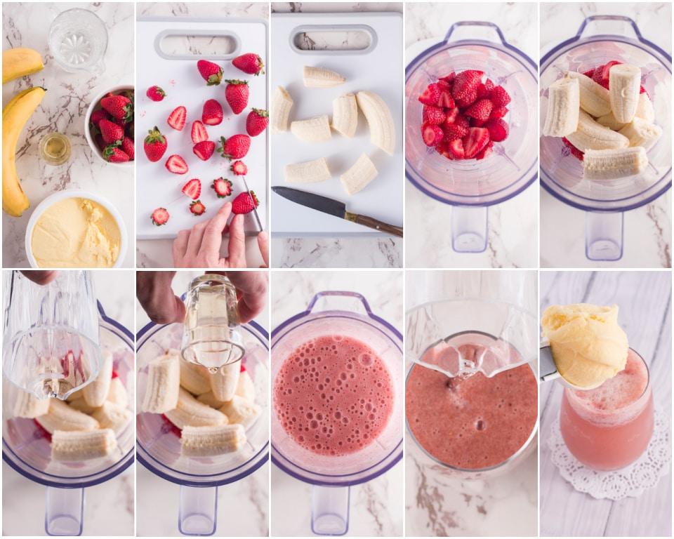 How to make a Strawberry Banana Ice Cream float