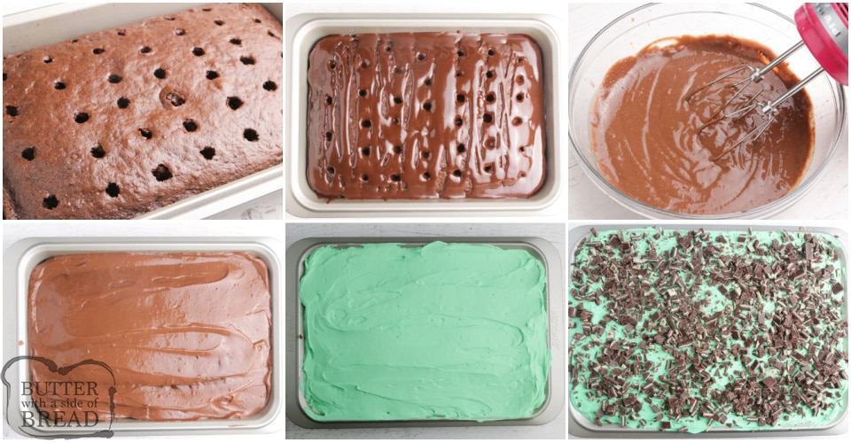 How to make Mint Chocolate Poke Cake