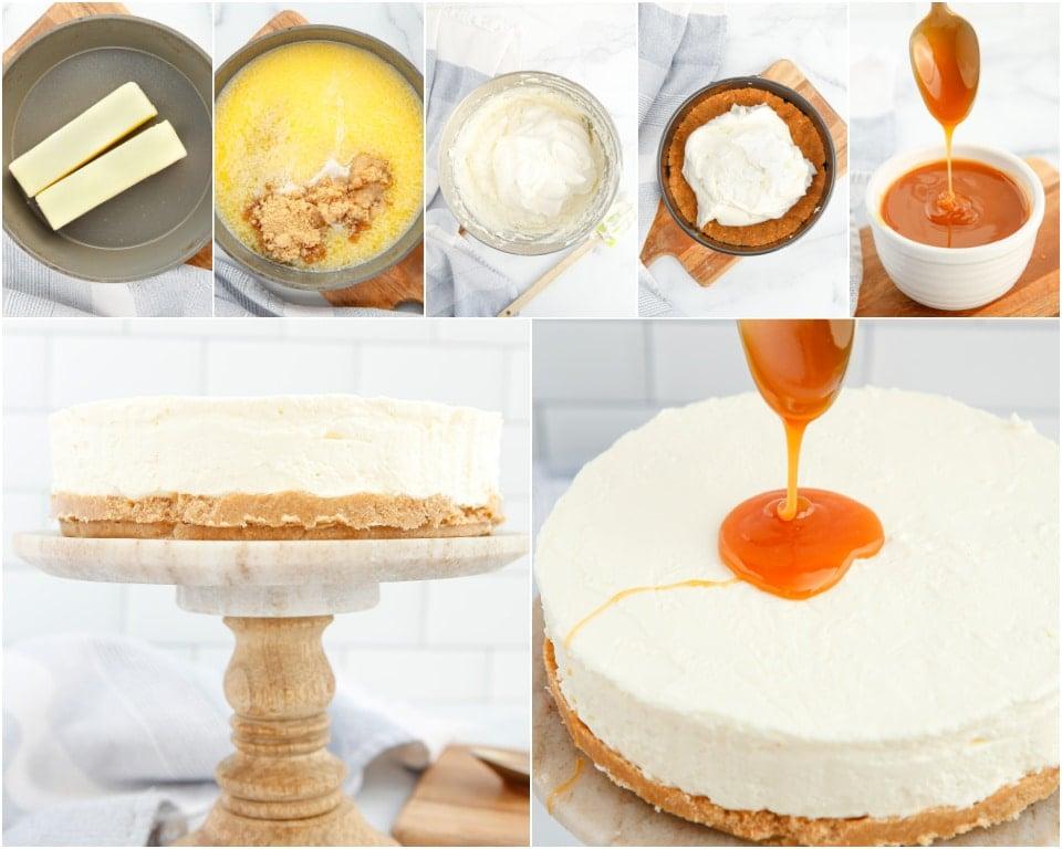 How to Make Homemade No-Bake Caramel Cheesecake recipe