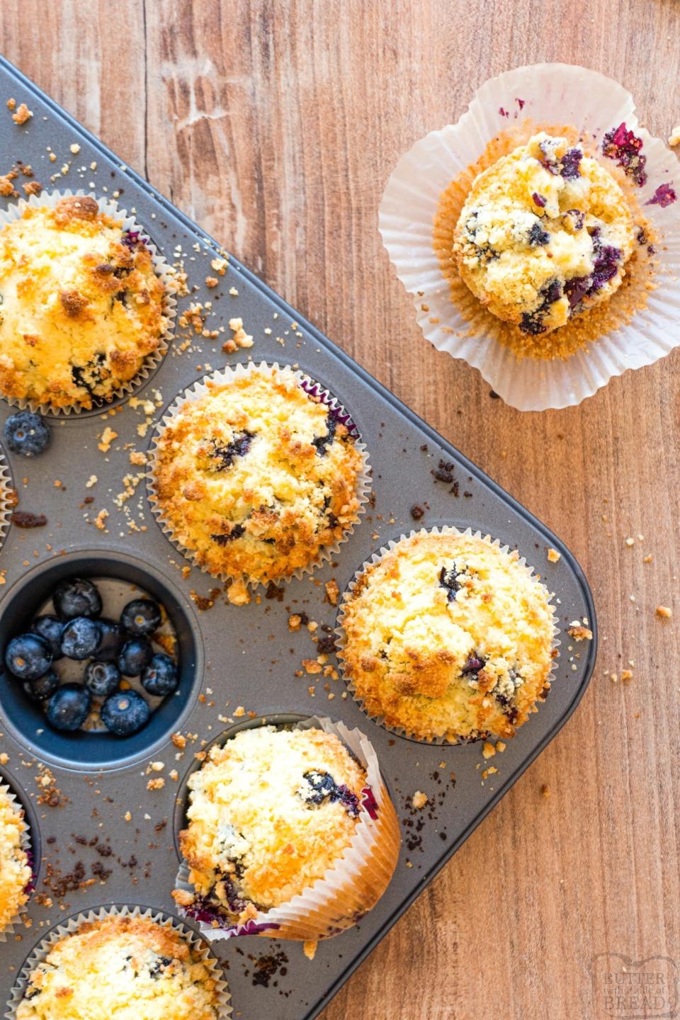 How to make Bakery Style Blueberry Muffins