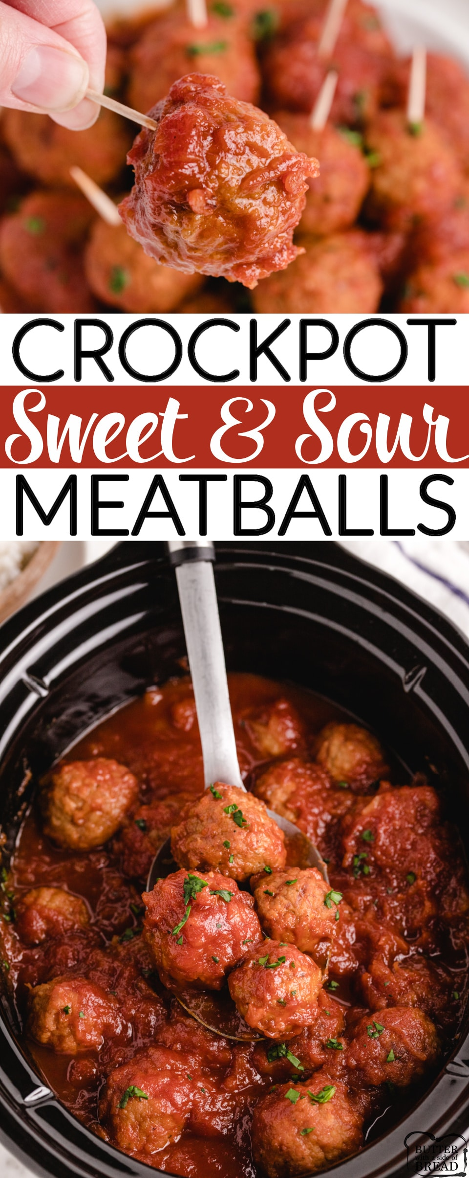 Crockpot Sweet and Sour Meatballsmade with frozen meatballs and a simple, homemade sweet and sour sauce. Sweet and Sour Meatballs are perfect for an appetizer or for a main dish!