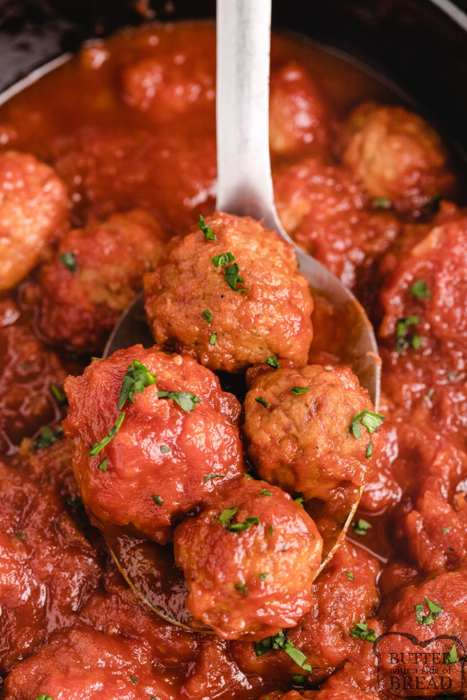 Slow cooker meatballs with homemade sweet and sour sauce