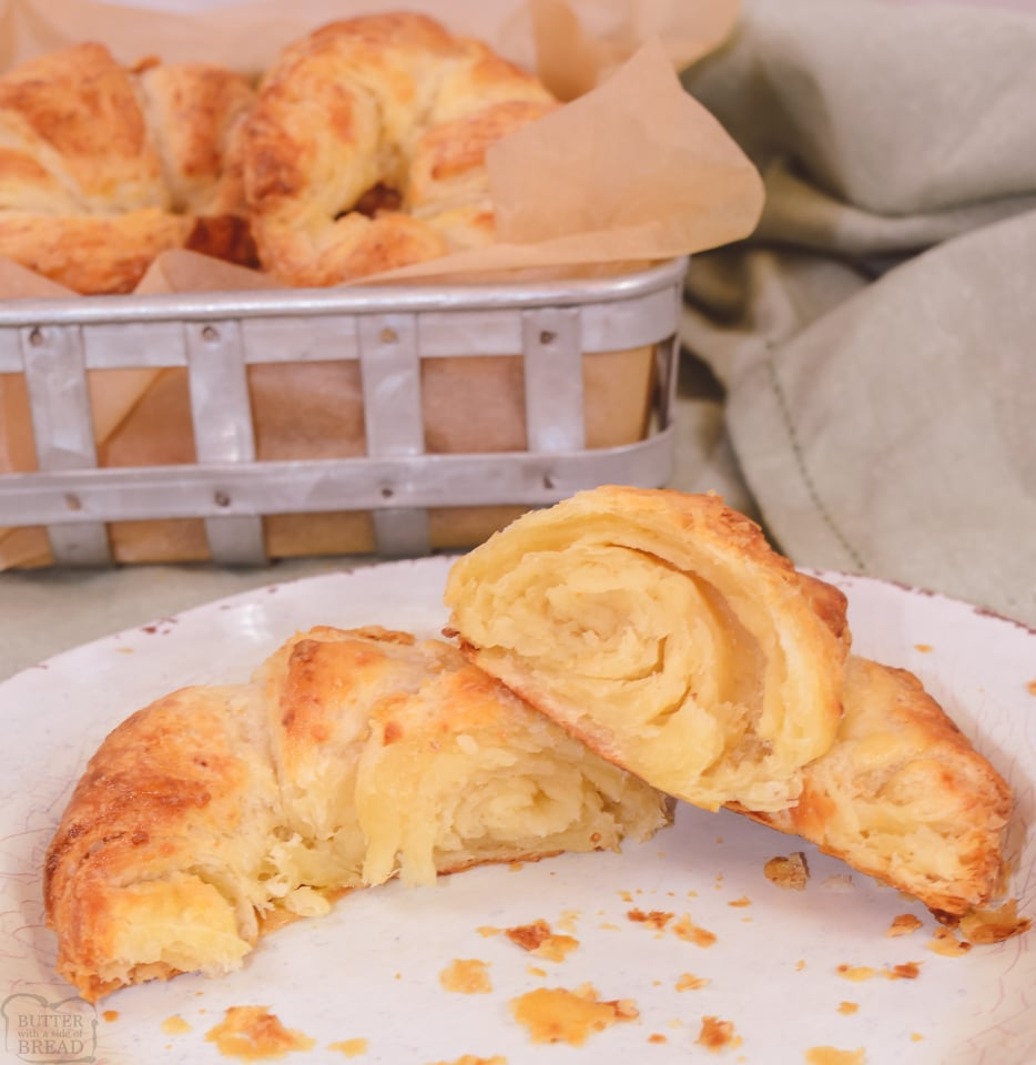 Classic Butter Croissants with instructions that any home baker can follow! Homemade Croissants with flaky layers & fabulous buttery flavor that are truly irresistible!