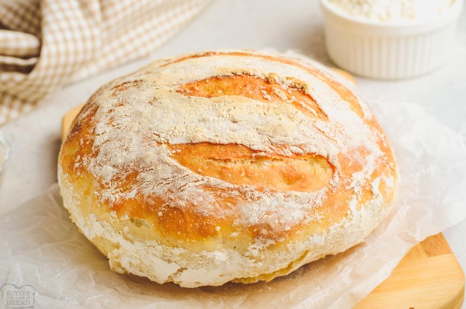 How to make No Knead Artisan Bread recipe