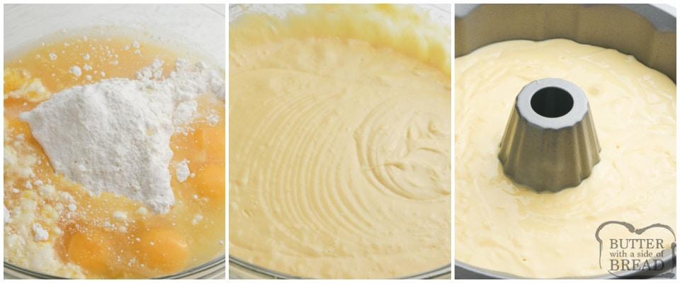 Step by step instructions on how to make Orange Bundt Cake