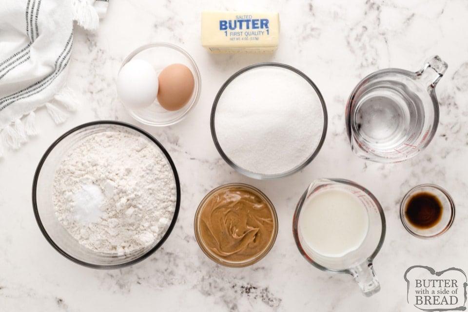 Ingredients in Peanut Butter Poke Cake