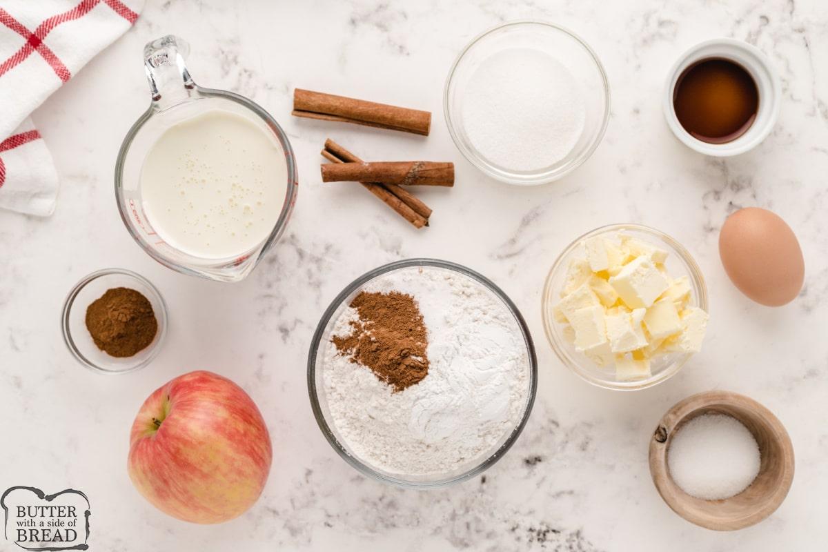 Ingredients in Apple Cinnamon Scones