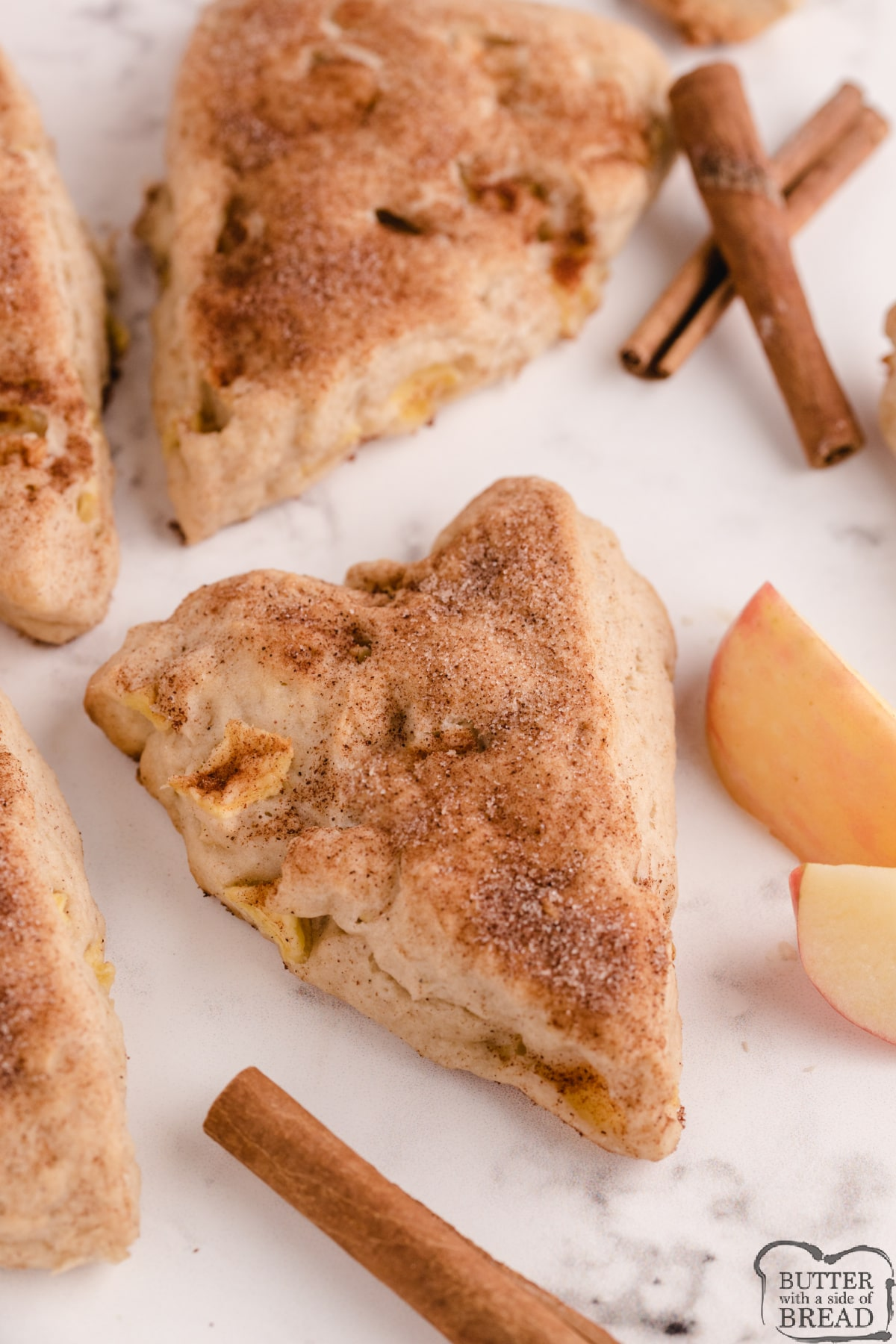 Homemade Apple Cinnamon Scones made with fresh apples and cream