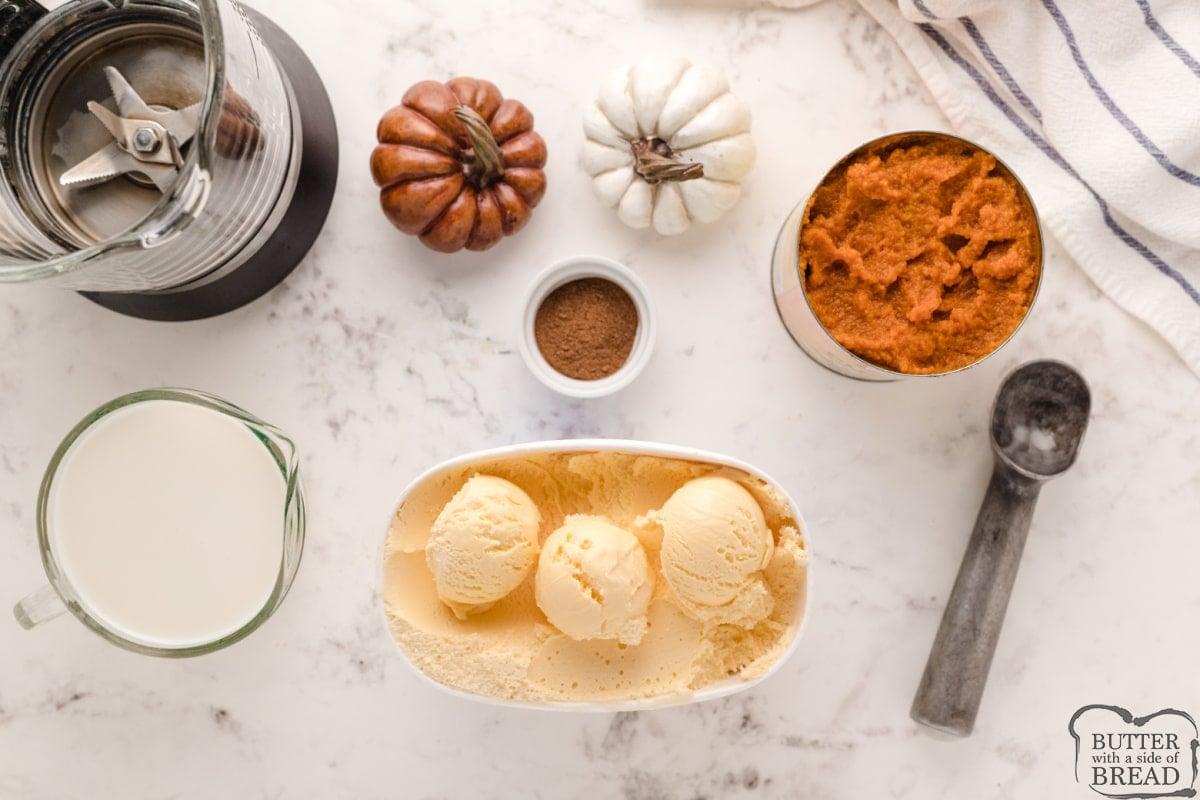 Ingredients in Pumpkin Milkshakes