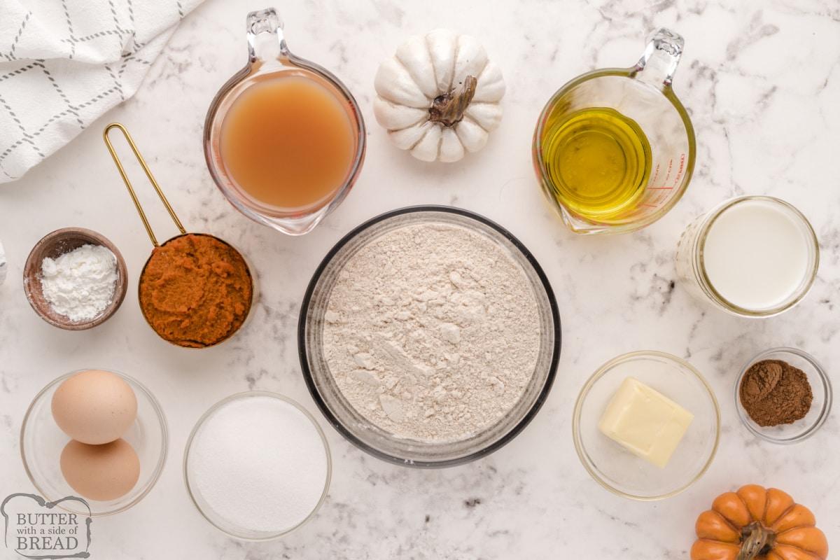 Ingredients in Pumpkin Pancakes