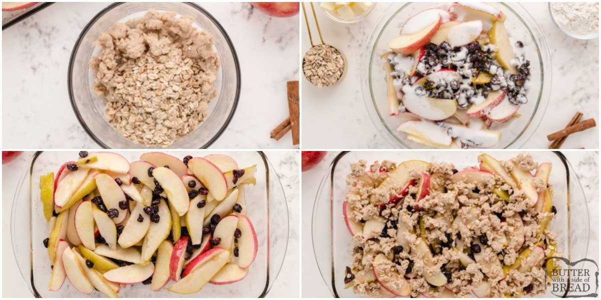 Step by step instructions on how to make Fall Fruit Breakfast Crumble