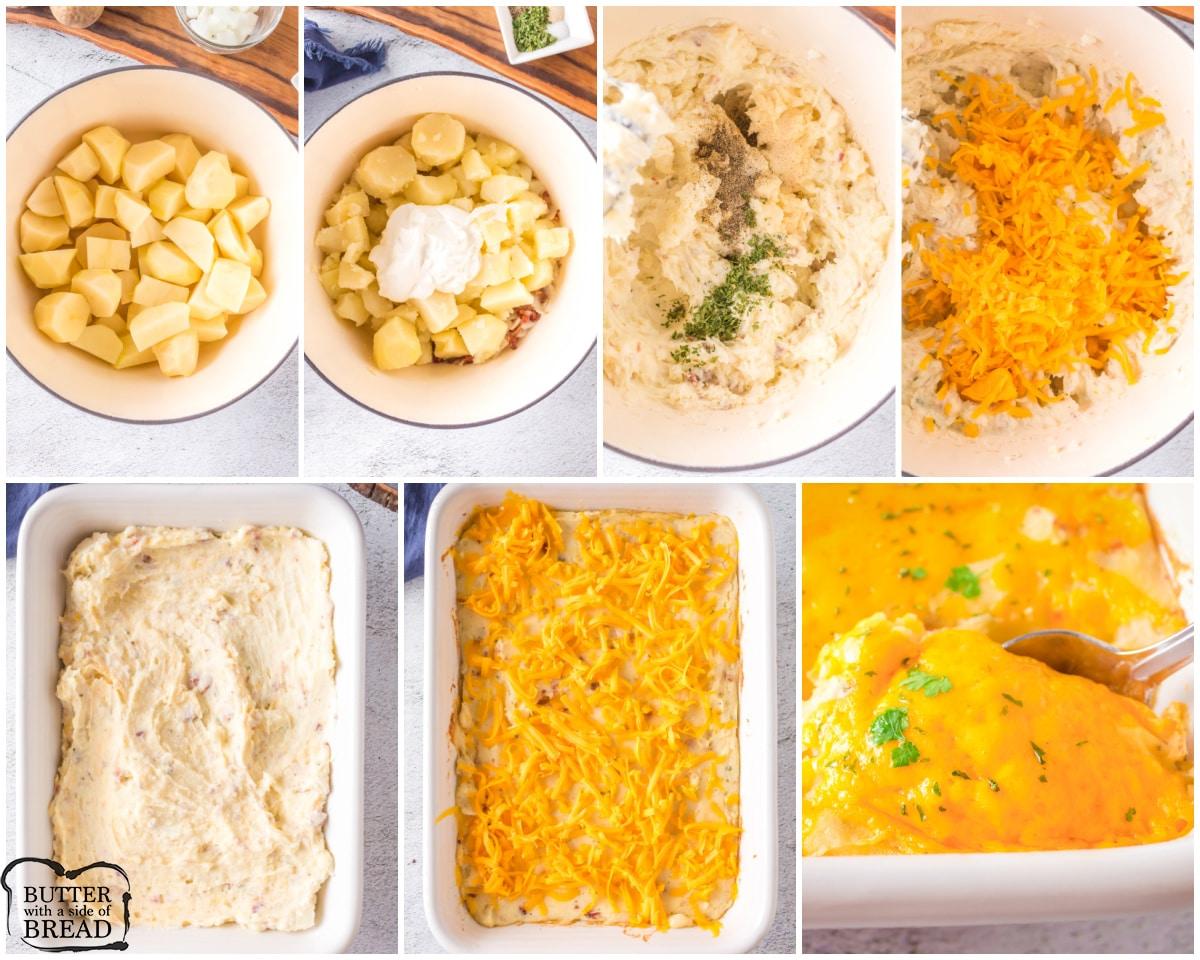 how to make twice baked potato casserole