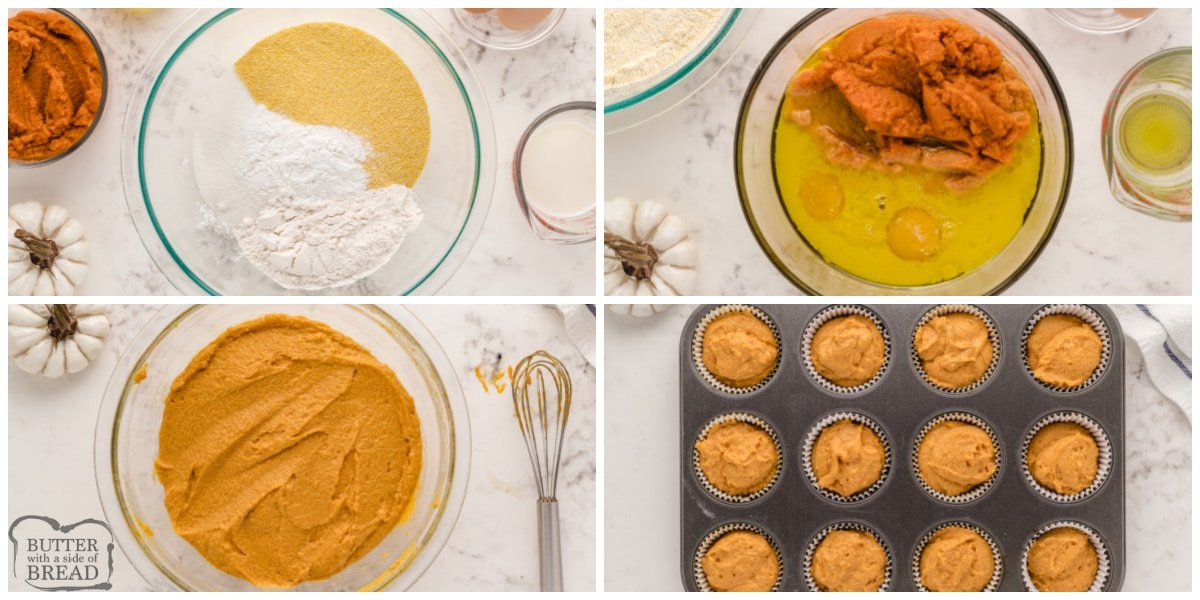 How to make pumpkin corn muffins