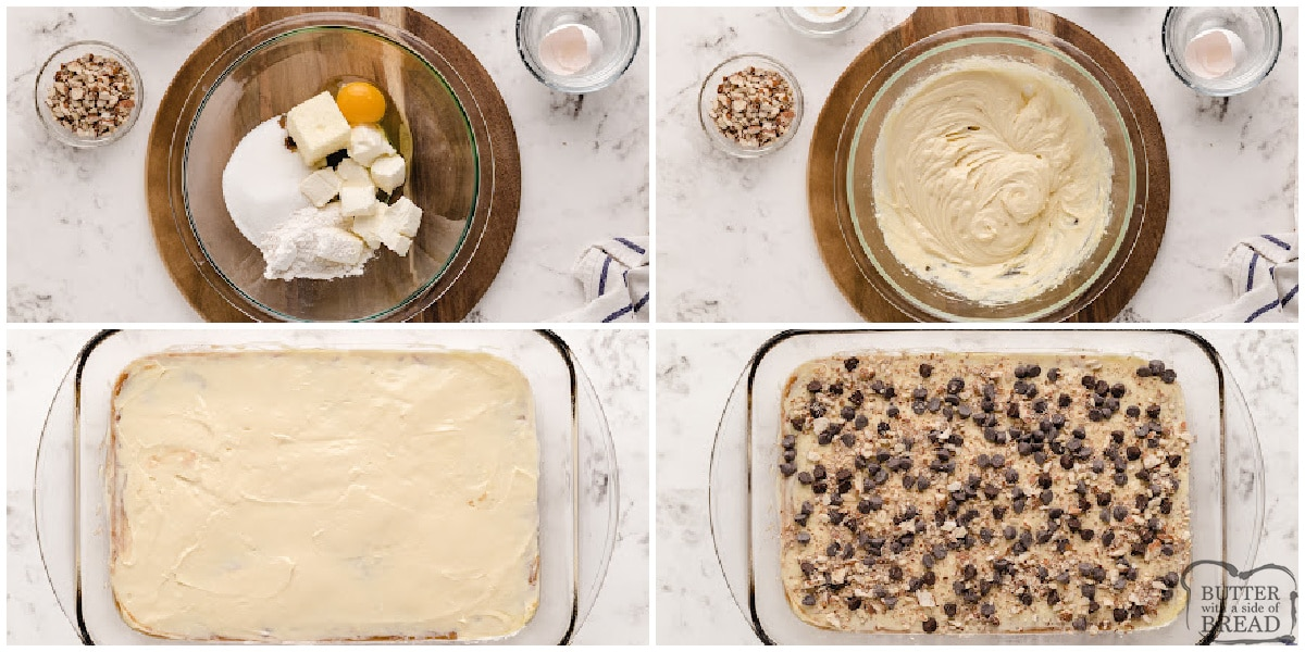 Step by step instructions on how to make second layer of dessert